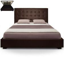 Cadres de lit et lits coffres contemporains marrons pour la maison
