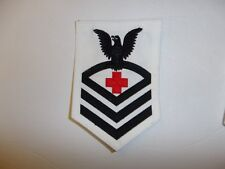 11007 WW 2 US Navy USN Chief Petty Officer CPO Pharmacist's Mate Rate White PB4