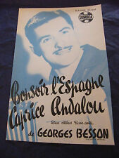 Partition Bonsoir l'Spain Caprice Andalou Georges Besson 1960 Music Sheet