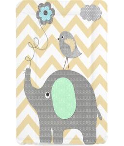 Baby Changing Mat - Elephant Chevron