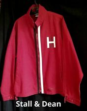 Men's STALL & DEAN Limited Edition HARVARD Ivy League JACKET Crimson 3XL  EUC