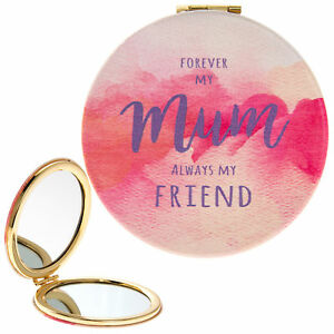 Watercolour Design Compact Mirror - Forever My Mum