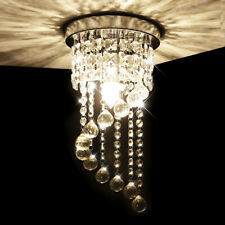 Modern Crystal Chandelier Ceiling Light Pendant Fixture E14 for Bedroom Stairs