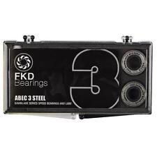 New Fkd Clear Case Abec 3 Skateboard Bearings - (8 Pc)