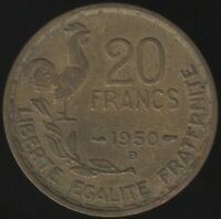 1950 B France 20 Francs '3 Plumes' | European Coins | Pennies2Pounds