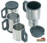 Stainless Steel Mug Cup Insulated Double Wall with Lid Camping Travel Car 4WD
