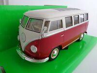 1963 Volkswagen T1 Bus / Modellauto /Nex Modell/Rot,Weiß/1:24/Welly/Neu/OVP