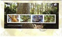 2015 FDC Australian Trees. M.S. Various FDI postmarks