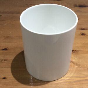 White Ceramic Indoor Plant Flower Pot Holder Height 17.8cm Modern