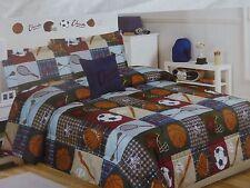 4 pc Cloud 9 Sports Twin Comforter, Sham, Decorative Pillow & Decal Set Nip