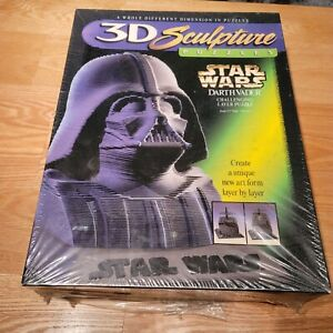 "Vintage 1997 Star Wars 3D Sculpture Puzzle Darth Vader 144 Layers 9.5"" High"