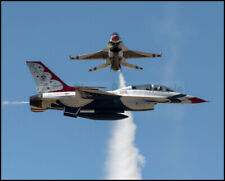 USAF F-16 Thunderbirds Crossover Pass Fairchild 2017 8x10 Photos