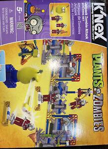 K'Nex Plants vs Zombies, Jetpack Zombie Attack Building New Open Box Complete