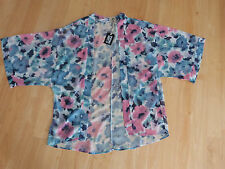 LDS YOUTH CONCEPTS FLORAL PIPING HOT KIMONO SIZE 16 - NEW WITH TAGS