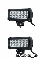 2x 36W Bright LED Car Bike Motorcycle Work Driving Fog Light Spot Beam Lamp New
