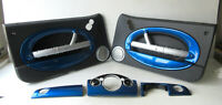 Genuine MINI 3 Piece Dashboard & Door Card Trim Kit (Hyper Blue) R50 R53 R52 LCI