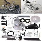 80cc 2Stroke Cycle Bike Engine Motor Petrol Gas Kit Bicycle Chrome