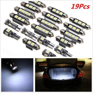 19Pcs White Car LED Lamp Interior LED Light Kit