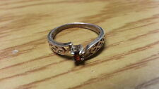 Beautiful Red Ruby Gemstone Filigree Sterling Silver *Size 6 *F443