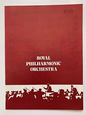 **ROGER MOORE ROYAL PHILHARMONIC ORCHESTRA LONDON PROGRAMME 1973**