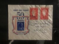 1948 Rotterdam Holland Netherlands First Day Cover FDC 50 Years Of Of Government