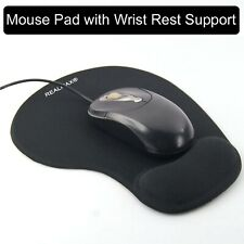 Resto De Pulsera Negro Mouse Pad Gel Soporte Estera Antideslizante Suave superficie con textura