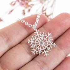 2020 Fashion Snowflake Pendant Necklace Chain Women Charm Jewelry XMAS Gifts