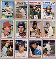 1976, 77, 78, 79, 80, & 81 Topps Lot Of 26 Different Baseball Semi-Stars