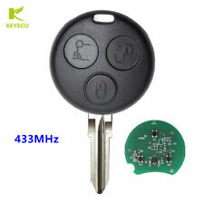 Uncut Remote Car Key Fob 433MHz for Mercedes Smart City ForTwo Passion Roadster