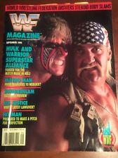 WWF WRESTLING MAGAZINE SEPTEMBER 1991 VINTAGE CATALOG WCW HULK HOGAN WARRIOR