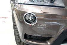 Chrome Front Fog Light Lamp Surrounds Bezel Cover 2pcs For BMW X3 F25 2011-2013