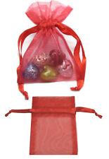 "30pcs 8x11cm 3.5""x4.5"" Red Premium Organza Wedding Favours Bags Pouches FREE PP"
