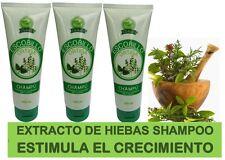 Cre-c Shampoo 3 Bottles Extracto Concentrado de Hierbas Estimula el Crecimiento