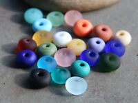 Tiny Spacers Handmade Lampwork Glass Beads Small - Choose Finish & Color SRA USA