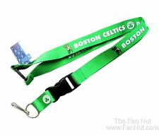 Boston Celtics Green Breakaway Lanyard w/ Detachable Keychain Hook Basketball
