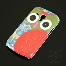 Samsung Galaxy S Duos s7562 Hard Case Protective Cover Motif Case Red Owl Design