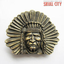 INDIAN CHIEF IV BUCKLE - Gürtelschnalle - Indianer Häuptling Western Country USA