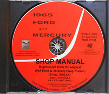 1965 FORD GALAXIE LTD XL CUSTOM 500 COUNTRY SQUIRE SHOP SERVICE MANUAL ON CD-ROM