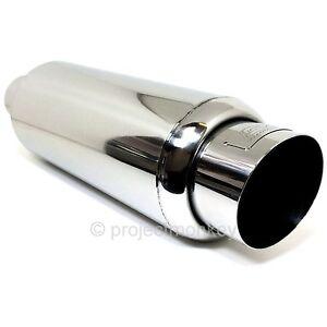 "DC Sports Universal Exhaust Stainless Steel Muffler 2.5"" Inlet Genuine"