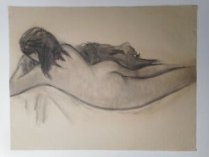 Painting Study Drawing Pastel Model Young Naked Woman Female 13 No