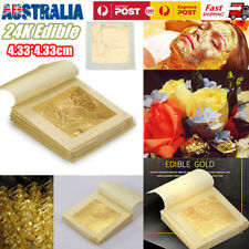 10pcs 24K Edible Pure Gold Leaf Sheets For Cooking Framing Art Work Gilding