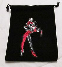 DC Dice Masters Justice League World's Finest HARLEY QUINN Drawstring DICE BAG !