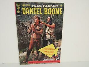 Gold Key-1964 #1-Fess Parker Daniel Boone-Photo Cover-Comic-VF/NM