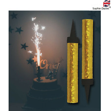 GOLD SPARKLING BIRTHDAY CANDLE Cake Topper ICE Fountain Wedding Party Decor UK