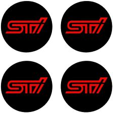 "SUBARU STI WHEEL CENTER CAP VINLY DECAL STICKERS 2.2"" Any Color"