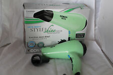 Conair Style and Shine 1875W Hair Dryer Mint Green 3 Heats/2 Speeds 425MGR
