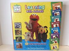 Sesame Street Elmos World Learning With Animals 8 Early Reading Board Books Case