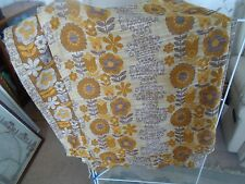 """1970's Vintage Pair Curtains 94"""" Long x 40"""" Wide Retro Decor Good Used Condition"""