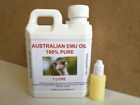 EMU OIL (1 LITRE AND FREE 30ML) 100% PURE *CHEAPEST* FREE SHIPPING FREE POSTAGE