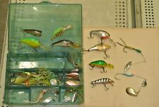Lot of 12 -Bagley Bang o Lure #2 - Rapala- Stanley wedge- new spoons- Used Lures